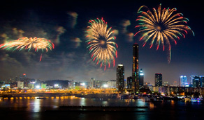 Han river fireworks display